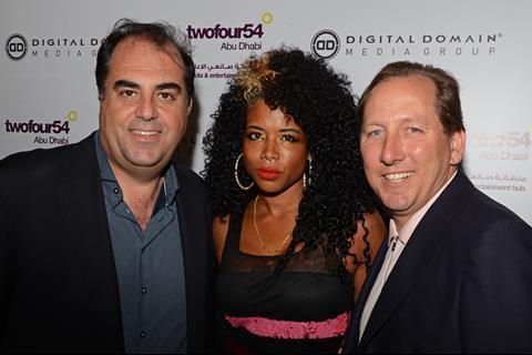Wayne Borg, Singer Kelis and John Textor attend the Abu Dhabi Digital Domain Event